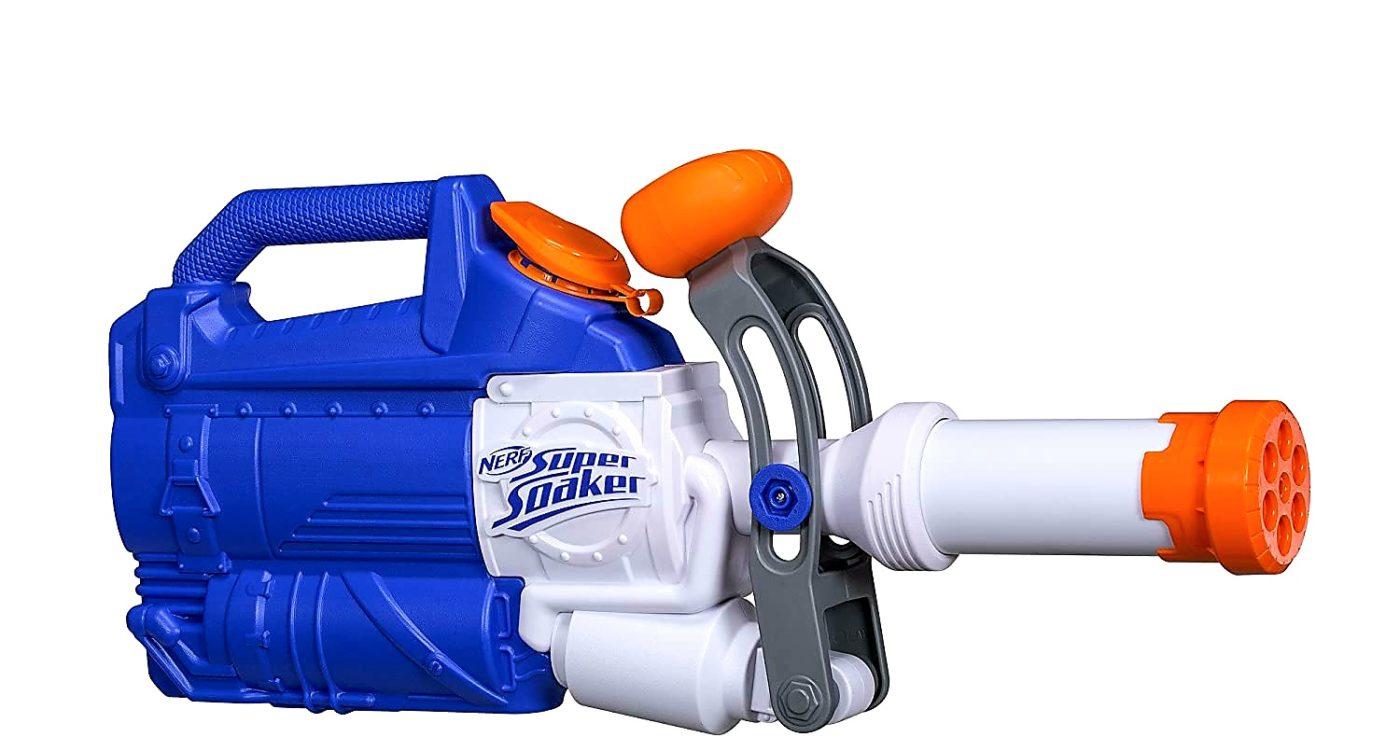 1. Hasbro Super Soaker Wasserpistole – Soakzooka 2